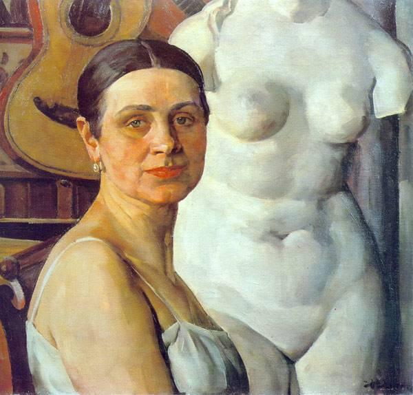 """""""Портрет К. А. Юон, жены художника"""", 1924"""