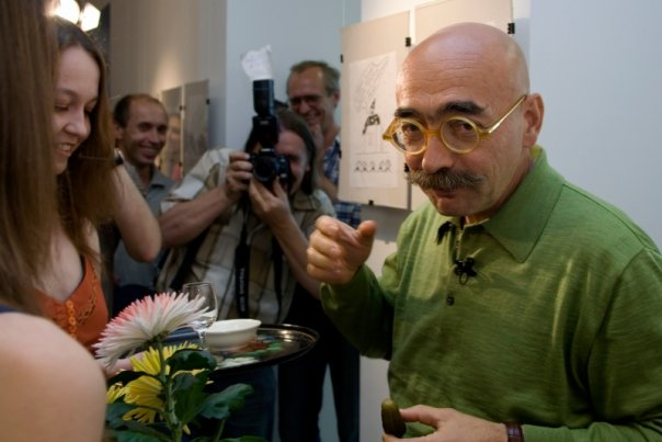 Андрей Бильжо на открытии персональной выставки в Х.Л.А.М.е