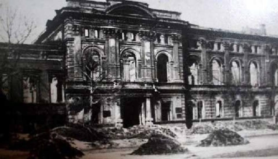 Так выглядел Дом губернатора после освобождения Воронежа