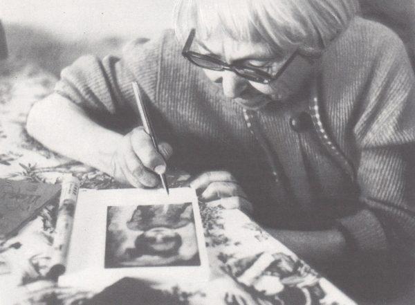 Варвара Бубнова за работой