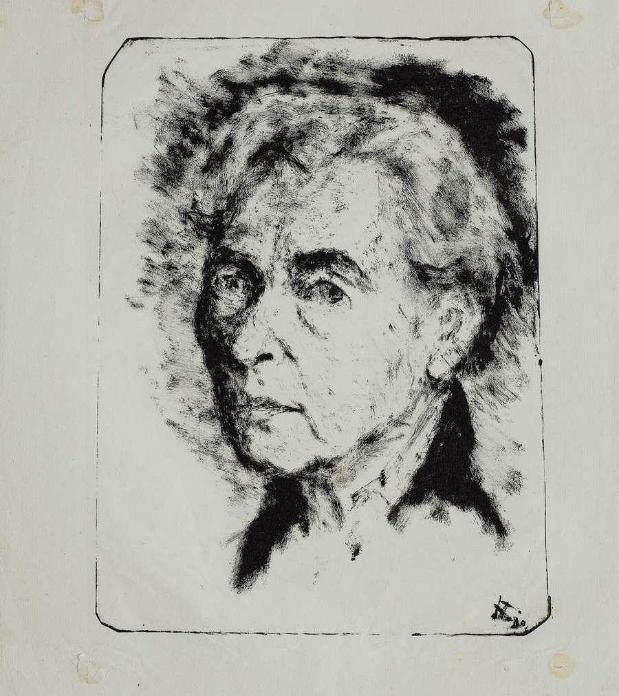 """Варвара Бубнова """"Автопортрет"""", 1958"""