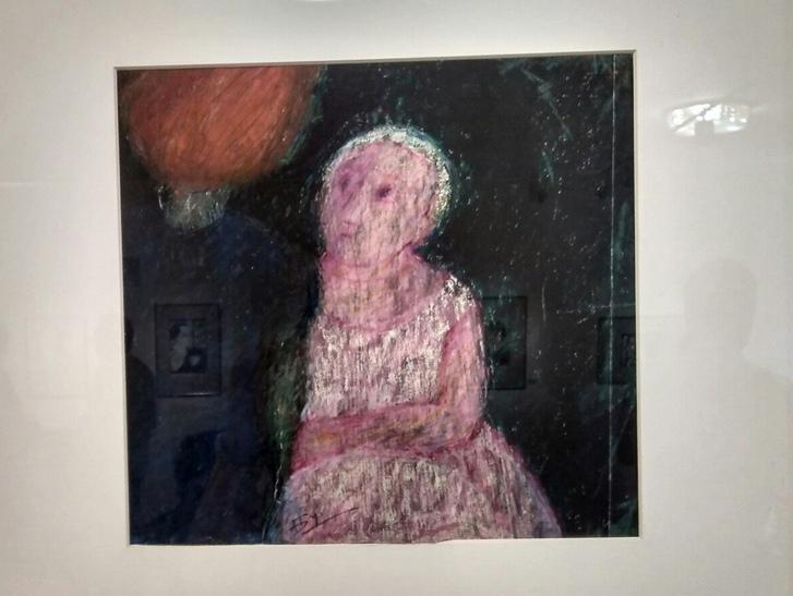 """""""Разговор"""", пастель, 1969"""