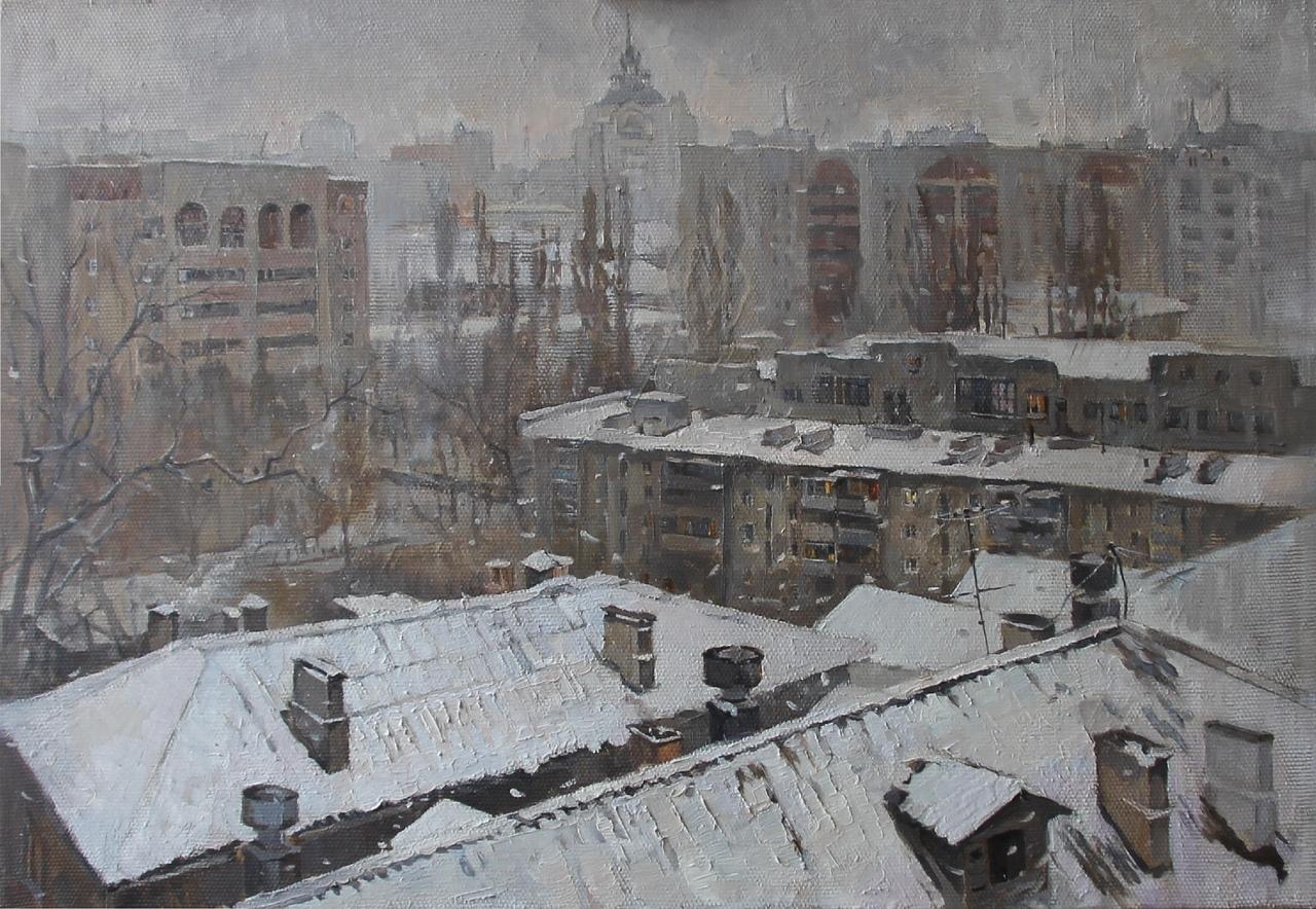 """""""Зима и крыши"""", Юлия Князева"""