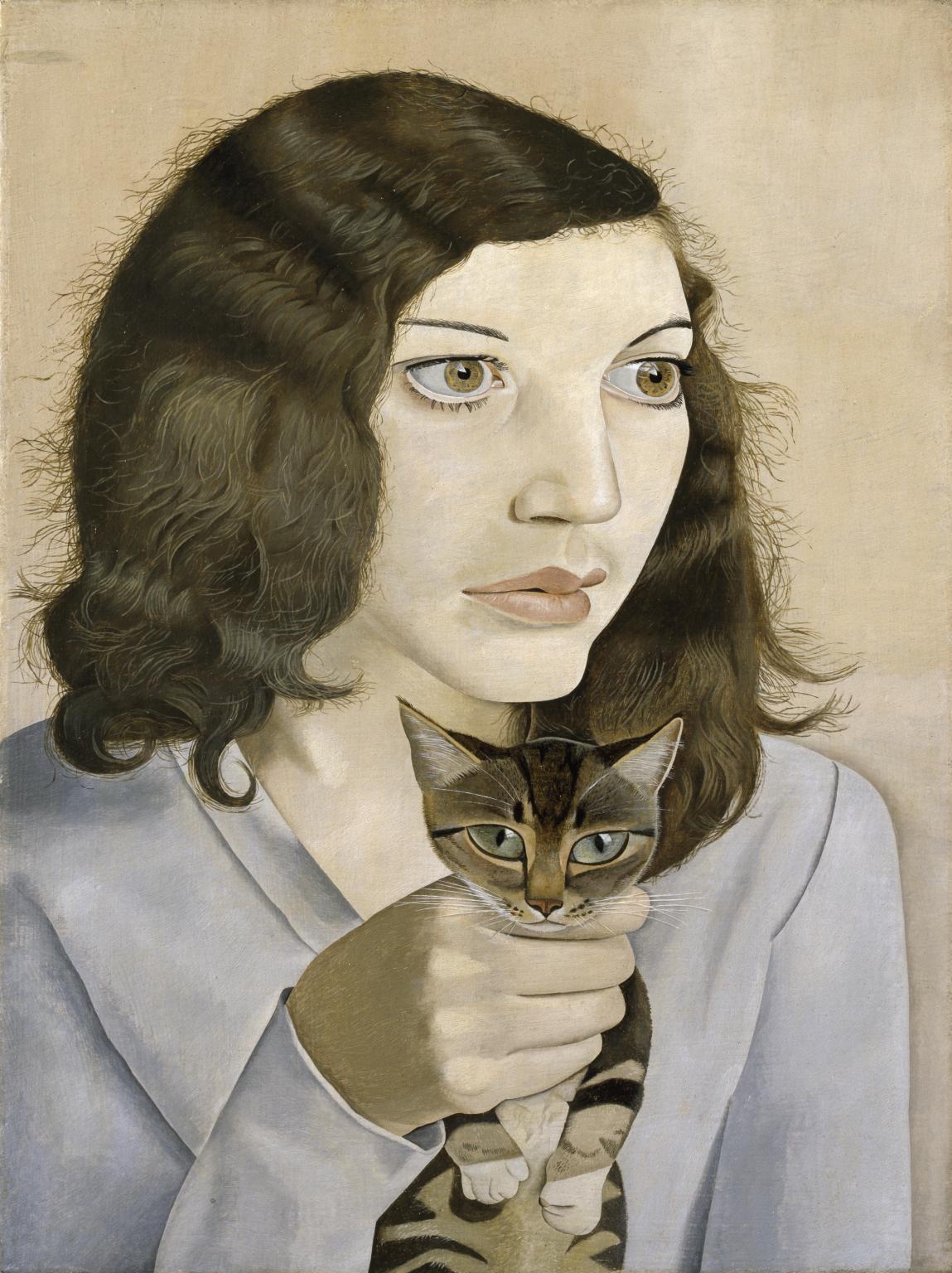 "Люсьен Фрейд ""Девушка с котёнком"""